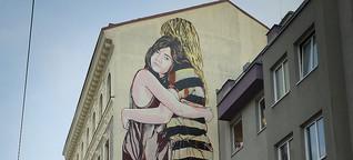 Pariser Street-Art-Nomaden in Meidling