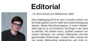 Editorial Abizeitung
