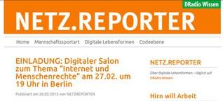 NETZ.REPORTER @DRadio Wissen