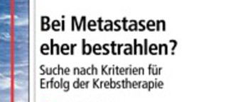 Metastasen bestrahlen; Medical Tribune 18/2014
