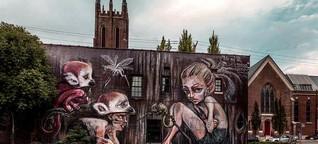 "Streetart-Projekt ""Giant Storybook"""