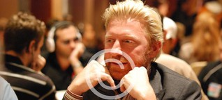Boris Becker am Pokertisch
