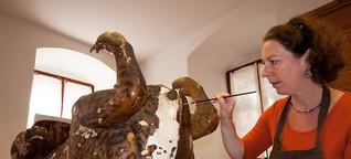 Sisyphusarbeit mit winzigen Muschelfragmenten