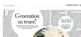 Generation zu teuer?