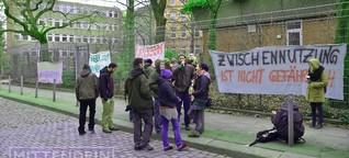 Kundgebung gegen Leerstand im Münzviertel