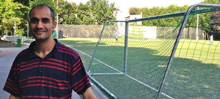 Training für Flüchtlinge: Flucht aufs Fußballfeld