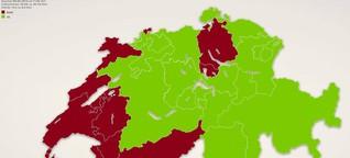 Schweizer Volksabstimmung: Knappe Mehrheit gegen Europa