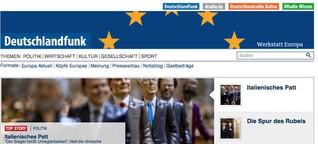 """""""Werkstatt Europa"""" Themenportal. Konzept, Projektleitung."""