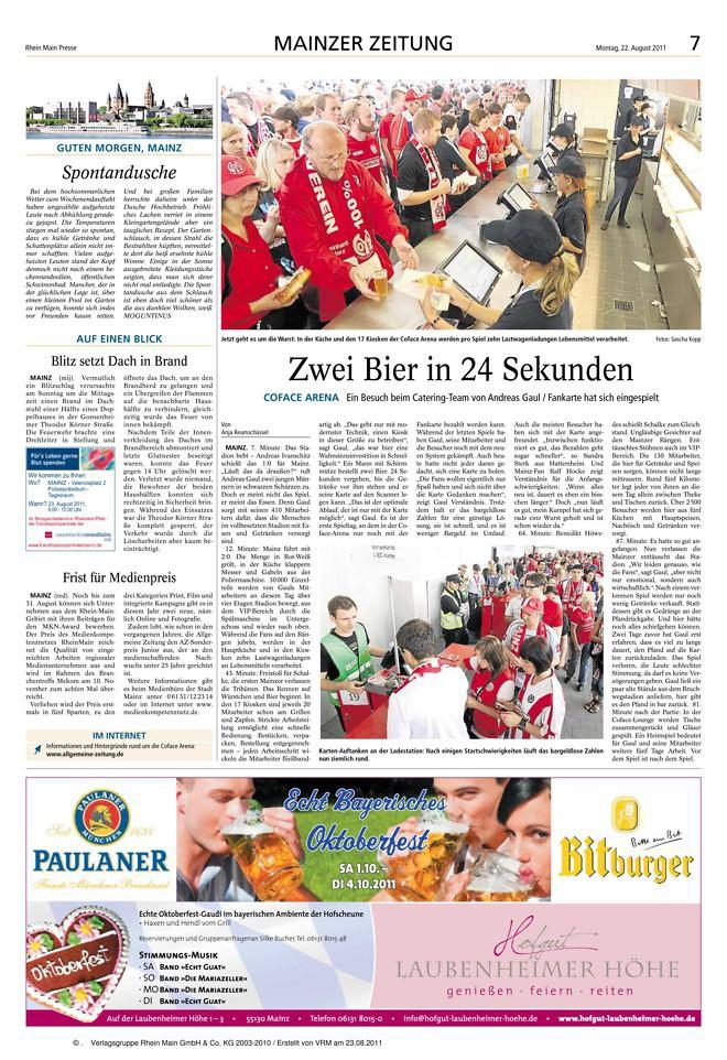 22 Sekunden für zwei Bier | Allgemeine Zeitung Mainz