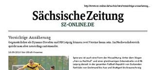RB Leipzig und Dynamo Dresden: Vorsichtige Annäherung