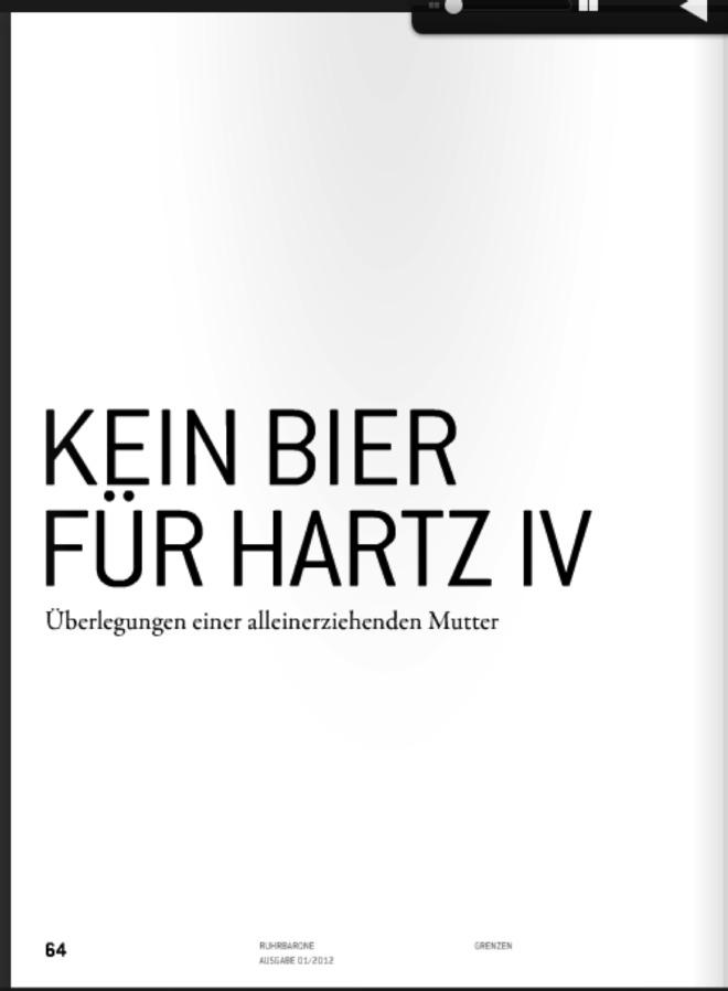 Kein Bier für Harz IV