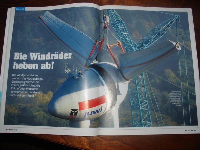Die Windräder heben ab