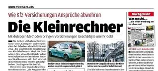 Die Kleinrechner: So wehren Autoversicherungen berechtigte Ansprüche ab