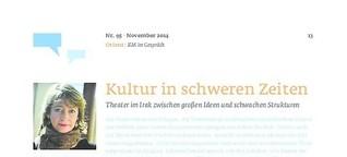 Kultur in schweren Zeiten. Theater im Irak zwischen großen Ideen und schwachen Strukturen