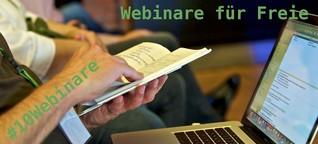 Freischreiber & fjum: 10 Webinare für Freie