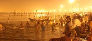 Hinduistisches Pilgerfest - Ein Schluck, und alles wird gut
