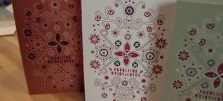 Weihnachtskarte im Letterpress