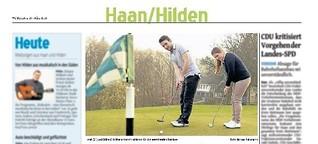 Golfende Geschwister