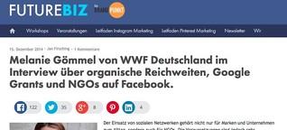 Organische Reichweiten, Google Grants & NGOs auf Facebook.