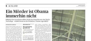 Ein Mörder ist Obama immerhin nicht