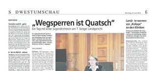 """""""Wegsperren ist Quatsch"""""""