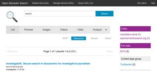 Datenschutzfreundliche Suchmaschine für investigative Recherche in Dokumentenbergen