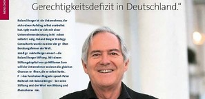 Roland Berger im Fundraiser Magazin