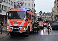 Feuer und Rauchentwicklung in Wiesbadens Innenstadt
