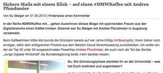 Sichere Mails mit 1 Klick - auf 1 #DMWKaffee mit Andrea Pfundmeier