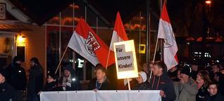 Protest von Flüchtlingsgegnern: Brauner Aufmarsch in Oranienburg