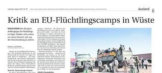 EU-Camps in der Wüste