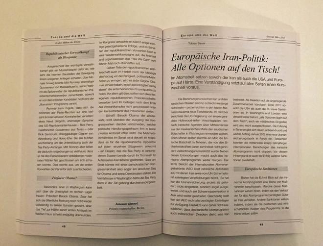 Europäische Iran-Politik: Alle Optionen auf den Tisch!
