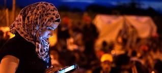 Das Smartphone, der Draht in die Heimat