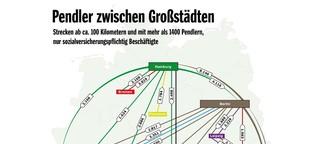 Arbeiten und Wohnen: Deutschlands große Pendler-Ströme - SPIEGEL ONLINE