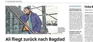 Ali fliegt zurück nach Bagdad