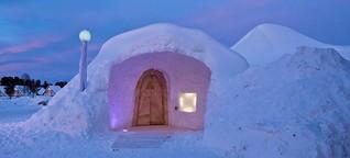 Das Iglootel in Schwedisch Lappland