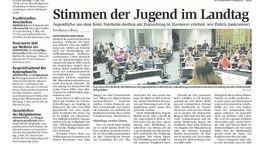 Stimmen der Jugend im Landtag