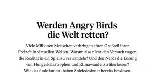 Werden Angry Birds die Welt retten?