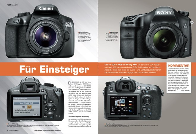 Test Canon EOS 1300D/Sony A68 • Colorfoto 7-8/2016