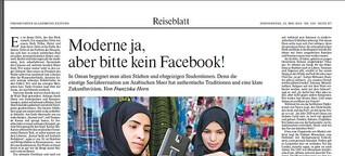 Oman: Moderne ja – aber bitte kein Facebook!