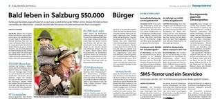 Bald leben in Salzburg 550.000 Bürger