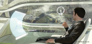 Airbus will interaktive Touchscreens als Kabinenfenster