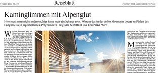 Kaminglimmen mit Alpenglut