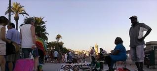 Straßenverkauf in Barcelona - Die Gewerkschaft der fliegenden Händler