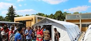 Flüchtlinge beziehen Zelte: Kein Platz, keine Privatsphäre