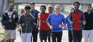 Wenn Deutsche Eritreer das Laufen lehren