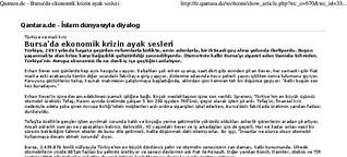 Bursa'da ekonomik krizin ayak sesleri