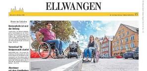 Ungeahnte Hürden: Im Rollstuhl durch Ellwangen