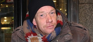 Ein Obdachloser hat uns erzählt, warum er noch nicht erfroren ist