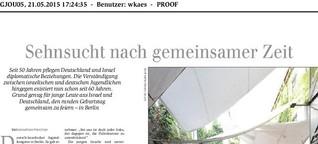 Reportage über die Feierlichkeiten zum deutsch-israelischen Jugendaustausch 2015
